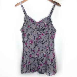 Torrid purple floral tank top